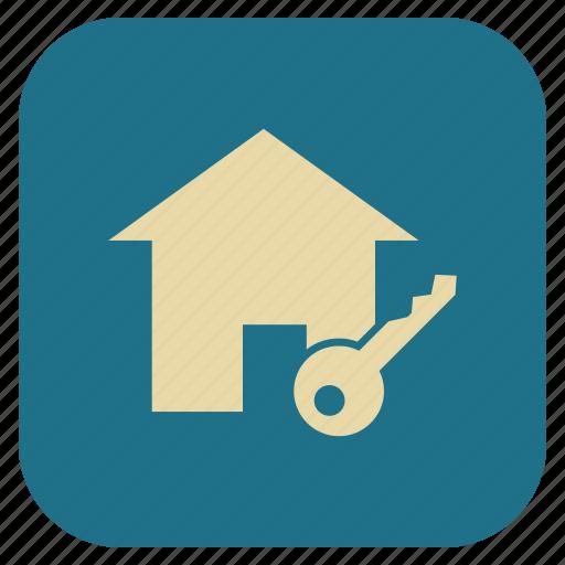 estate, home, key, real icon