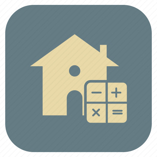 estate, house, maths, real icon