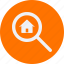 architecture, construction, estate, property, real, real estate, search icon