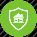 architecture, construction, estate, property, real, real estate, shield icon
