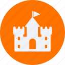 architecture, castle, construction, estate, property, real, real estate, sand icon