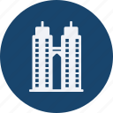 architecture, construction, estate, property, real, real estate, tower icon