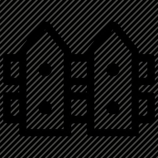area, border, fence icon