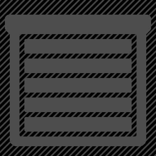 closed, garage door, roll, roller, shutter, window icon