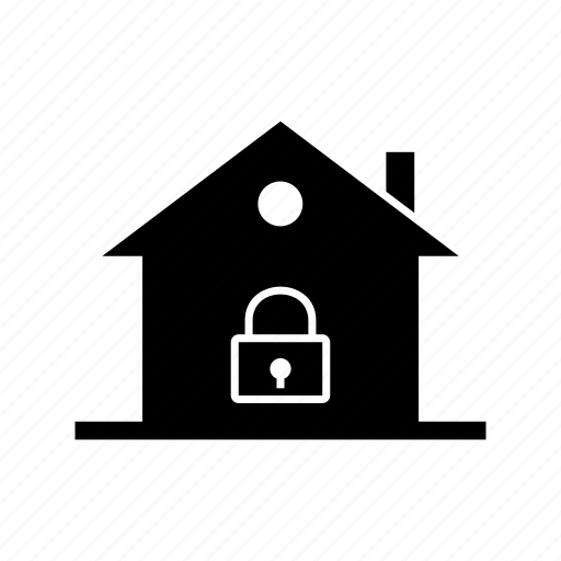 lock home, property, real estate, secure home icon