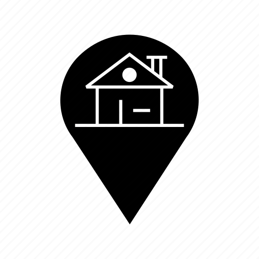 gps, location, navigation, pin home icon