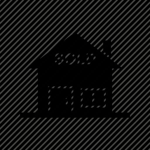 estate, property, real estate, sold home icon