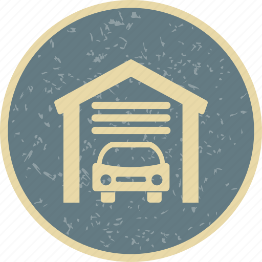 car garage, house garage, parking icon