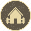 barn, farm, house, hut icon