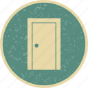 closed door, door, wooden door icon