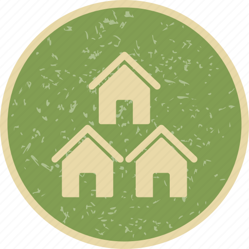 community, houses, neighbors icon