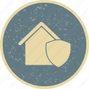 house insurance, house protection, house shield icon