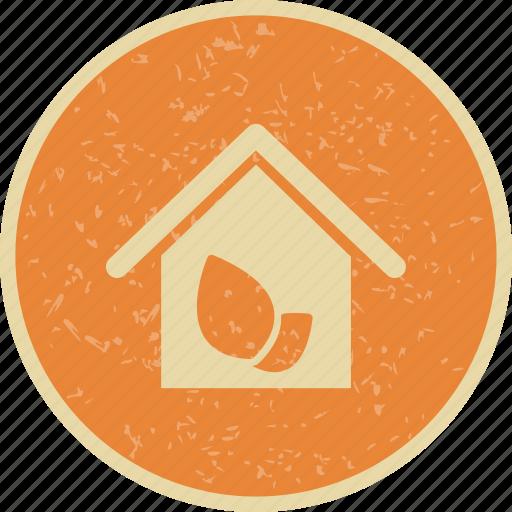 eco, green house, house icon