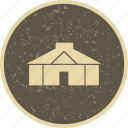 camping, hut, tent, yurt icon