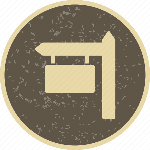 direction board, sign board, street board icon