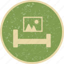 bed, bedroom, living room, room icon