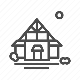 apartment, building, cabin, chapel, home, house icon