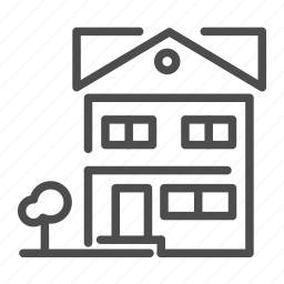 apartment, building, cabin, floor, home, house, tree icon