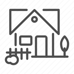 apartment, building, compound, fence, home, house icon