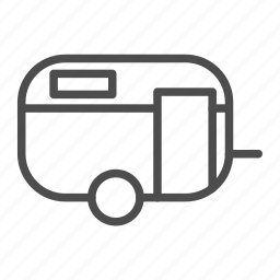 cabin, car, house, mobile, vehicle icon