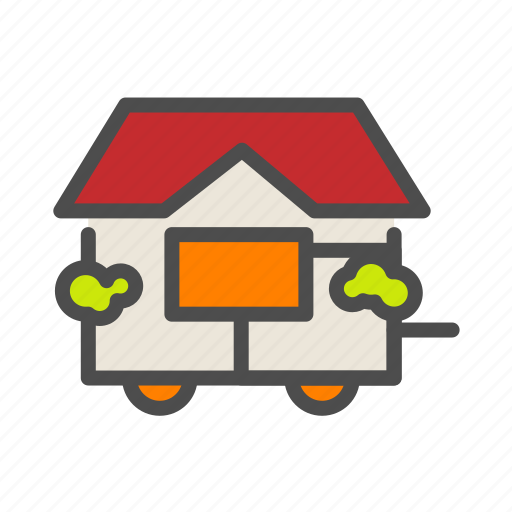 apartment, building, cabin, home, house icon