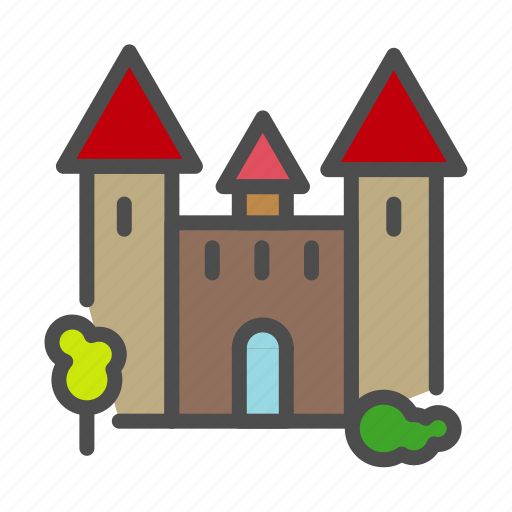 apartment, building, castle, empire, home, house, king icon