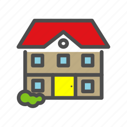 apartment, building, estate, home, house icon