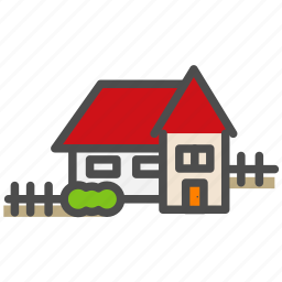 apartment, building, fence, home, house icon