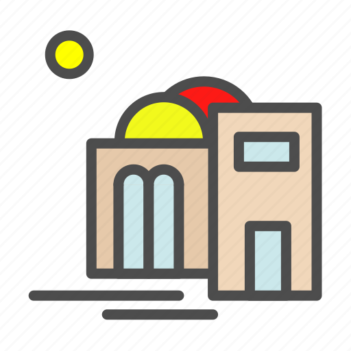 apartment, building, home, house, mosque icon
