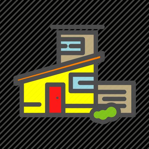 apartment, building, estate, home, house, villa icon