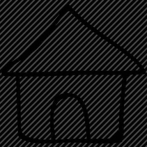 real, resort, shack, villa icon
