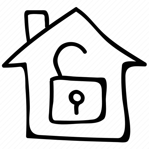 house, lock, safe, secure icon