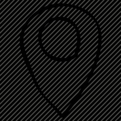 locator, marker, navigator, pin icon