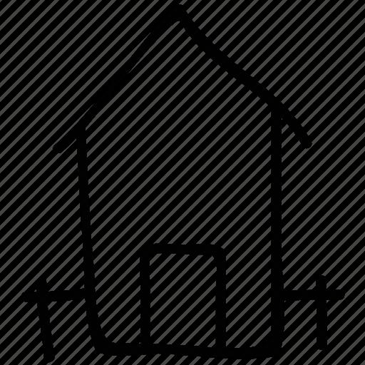 estate, home, real, shack, villa icon