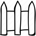 fence, garden, house, park icon