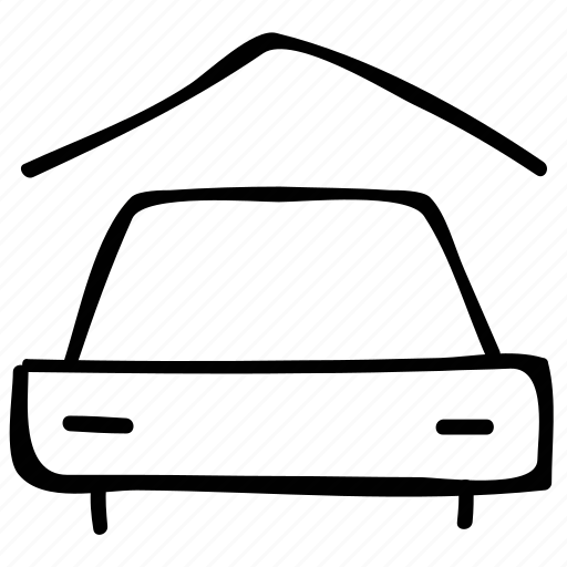 car, garage, porch, vehicle icon