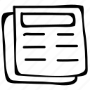 documentation, documents, files, papers icon