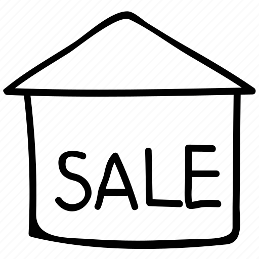 building, information, real estate, sale icon