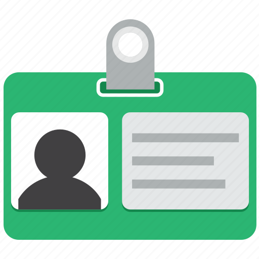 access, badge, business card, document, documents, login, user profile icon