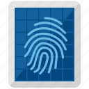 access, biometric, finger print, safe, secure, security, shield icon