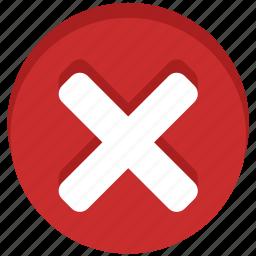 cancel, close, delete, negative, no, stop, trash icon