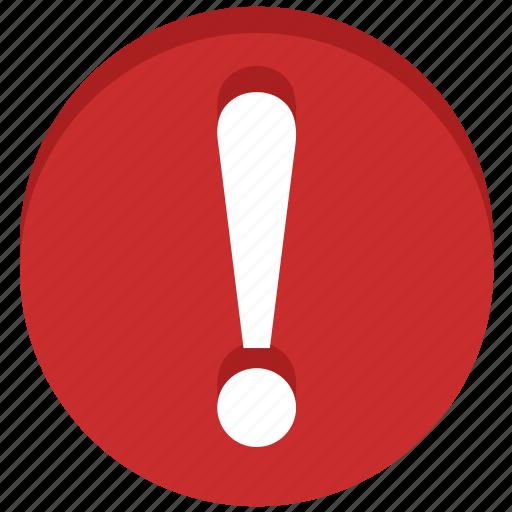 alarm, alert, danger, error, exclamation, problem, warning icon