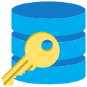 data, database, db key, dbase, password, secure, security icon