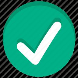 accept, check, good mark, ok, success, tick, yes icon