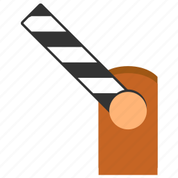 barrier, customs, exit, log out, open, road, way icon