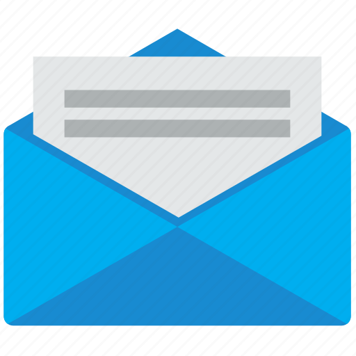chat, email, envelope, letter, message, open, send mail icon
