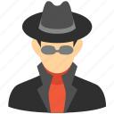 hacker, person, secret service, security, spy, thief, user icon