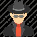 hacker, spy, thief, person, secret service, security, user