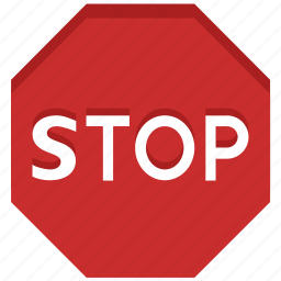 cancel, close, exit, stop, stop sign, terminate, warning icon