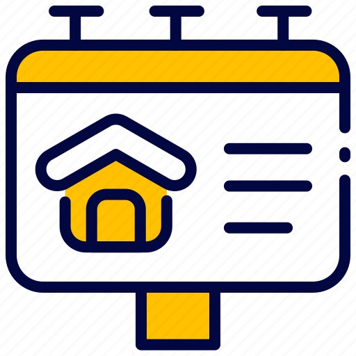 Advertising, billboard, bukeicon, estate, house, property, real icon - Download on Iconfinder